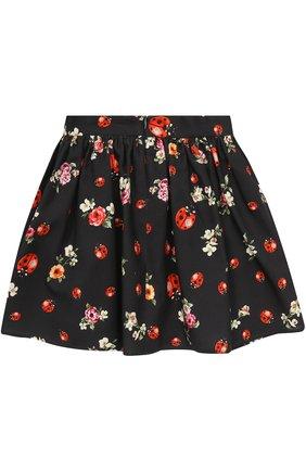 Хлопковая юбка-миди свободного кроя с принтом | Фото №2