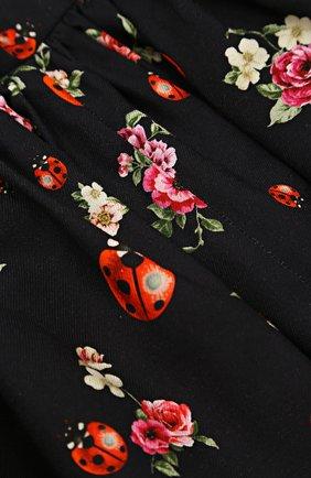Хлопковая юбка-миди свободного кроя с принтом | Фото №3