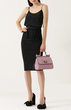 Сумка Sicily medium new с брошью Dolce & Gabbana розовая цвета | Фото №2