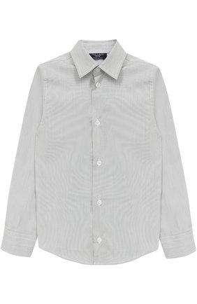 Детская хлопковая рубашка прямого кроя DAL LAGO серого цвета, арт. N402/7815/4-6 | Фото 1