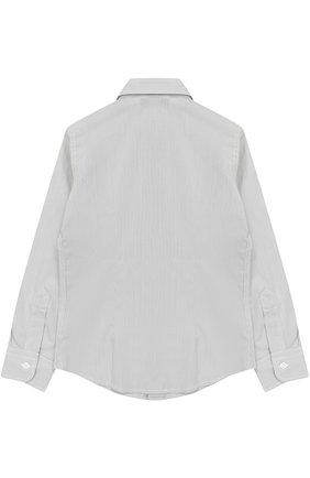 Детская хлопковая рубашка прямого кроя DAL LAGO серого цвета, арт. N402/7815/4-6 | Фото 2