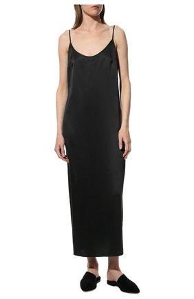 Женская шелковая сорочка LA PERLA черного цвета, арт. 0020292 | Фото 2