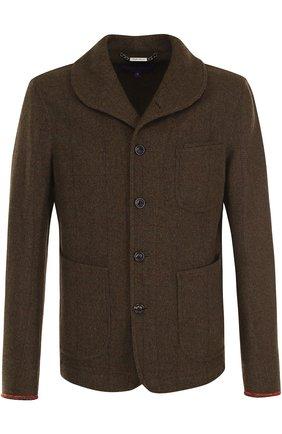 Укороченное пальто из смеси шерсти и шелка | Фото №1