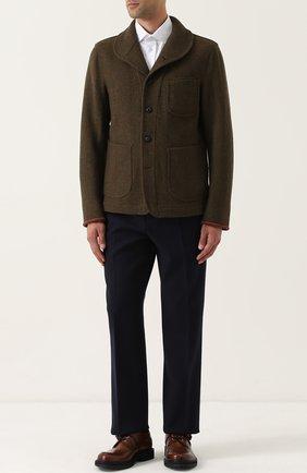 Укороченное пальто из смеси шерсти и шелка | Фото №2