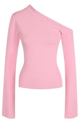 Топ с длинными рукавами и открытым плечом Solace розовый | Фото №1