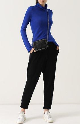 Приталенный шерстяной свитер Tegin темно-серый | Фото №1