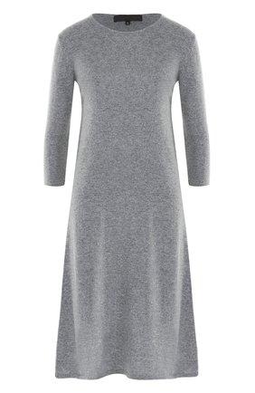 Шерстяное платье-миди с укороченным рукавом Tegin черное | Фото №1