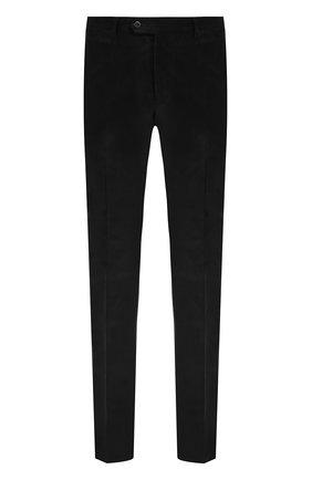 Хлопковые брюки прямого кроя Pal Zileri темно-синие   Фото №1
