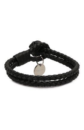 Кожаный браслет с плетением   Фото №2