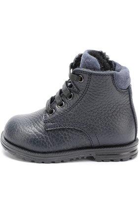 Кожаные ботинки на шнуровке | Фото №2