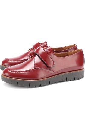 Кожаные ботинки с застежками велькро | Фото №1