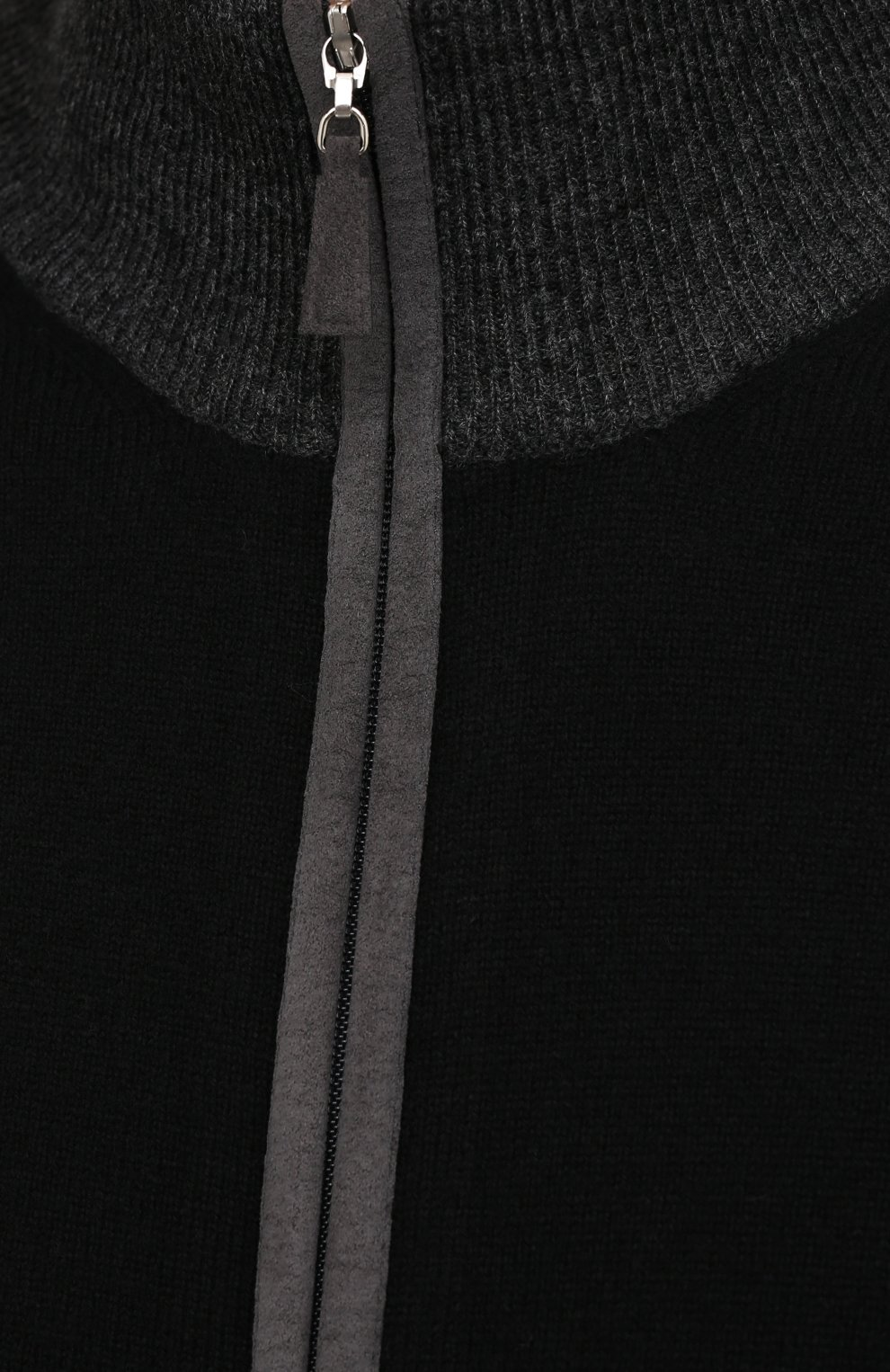 Мужской кардиган из шерсти и кашемира GRAN SASSO черного цвета, арт. 55106/19669 | Фото 5