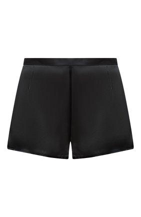 Женские шелковые мини-шорты LA PERLA черного цвета, арт. 0020290 | Фото 1