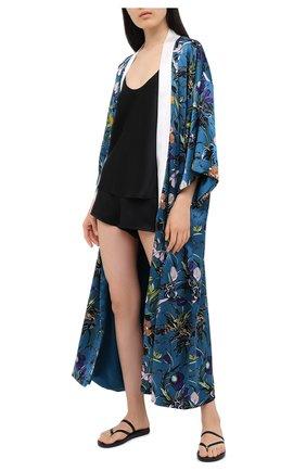 Женские шелковые мини-шорты LA PERLA черного цвета, арт. 0020290 | Фото 2