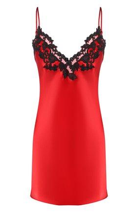 Женская шелковая сорочка LA PERLA красного цвета, арт. 0019227 | Фото 1