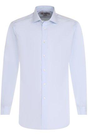 Хлопковая сорочка с воротником кент Turnbull & Asser белая | Фото №1