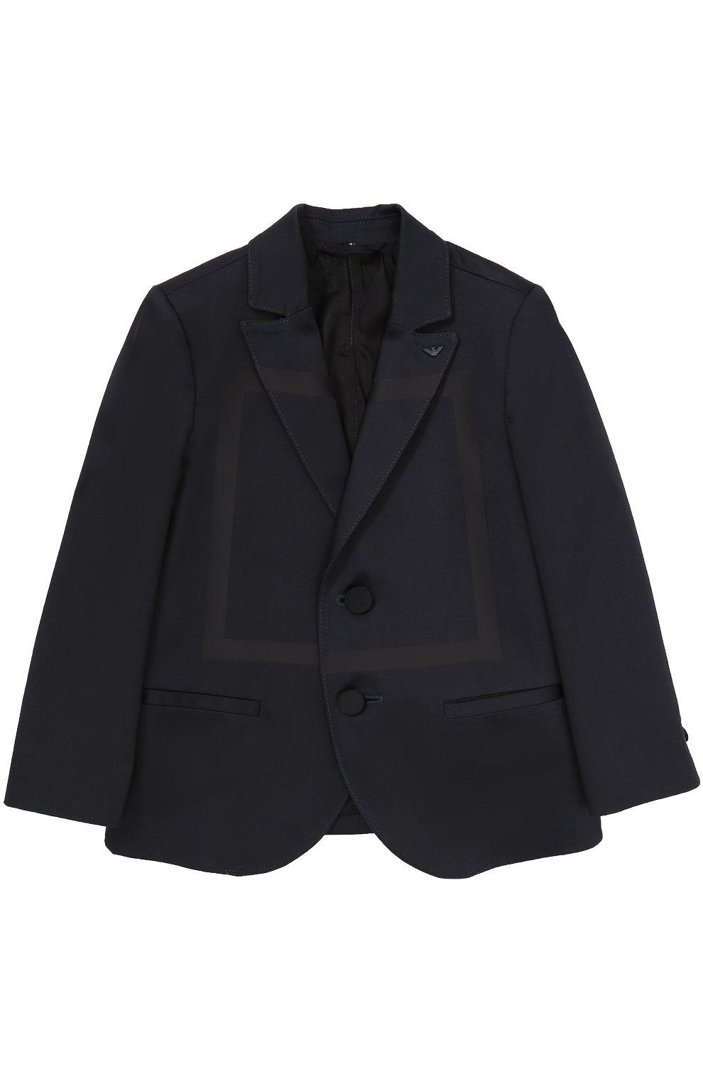 Однобортный пиджак из хлопка с прострочкой   Фото №1