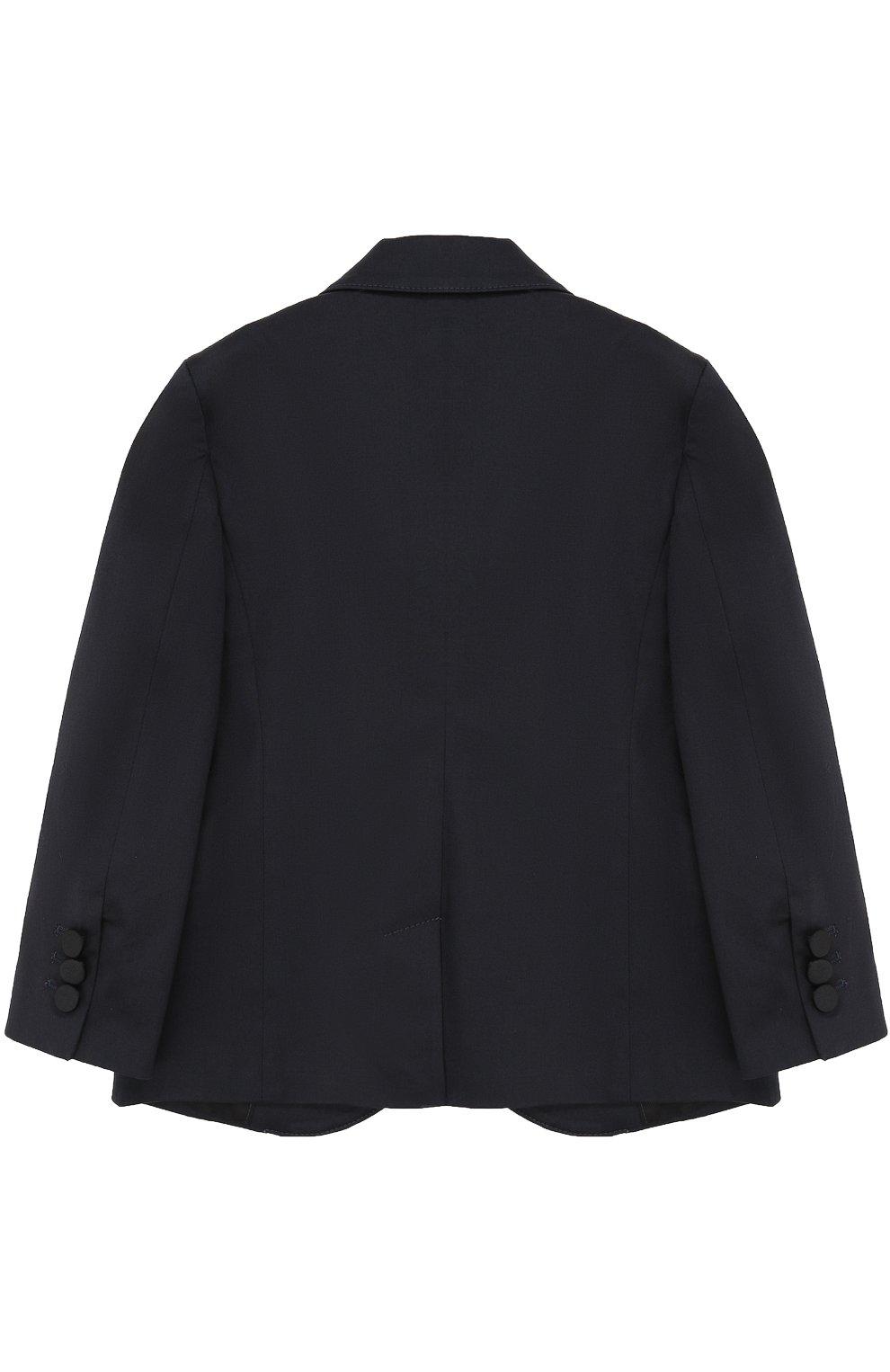 Однобортный пиджак из хлопка с прострочкой   Фото №2