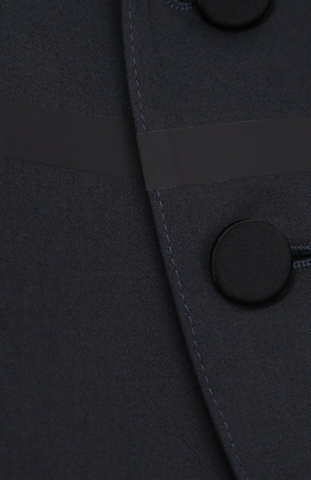 Однобортный пиджак из хлопка с прострочкой   Фото №3