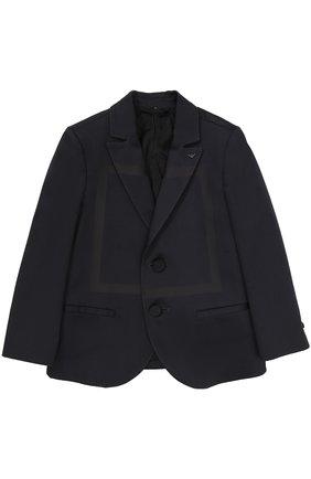 Однобортный пиджак из хлопка с прострочкой | Фото №1