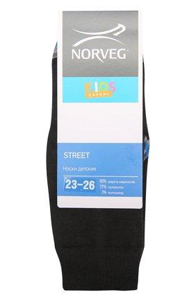 Детские носки street NORVEG черного цвета, арт. 9SSURU | Фото 1