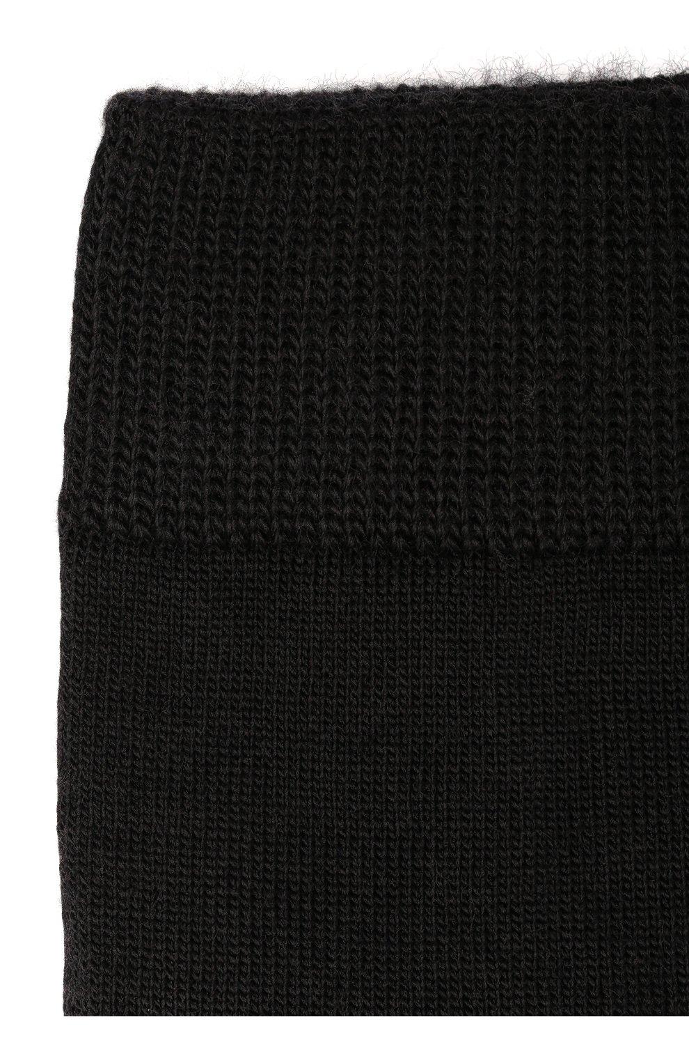 Детские термоноски merino wool Norveg черного цвета | Фото №2