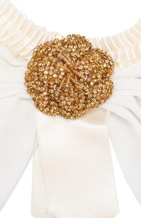 Ожерелье с текстильной отделкой и кристаллами Swarovski | Фото №2