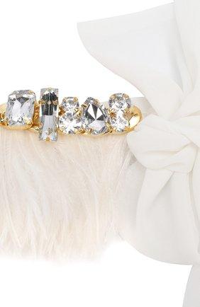 Ожерелье из пера страуса и кристаллами Swarovski | Фото №2