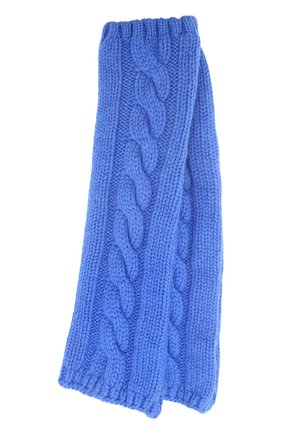 Вязаные митенки из кашемира Kashja` Cashmere синие   Фото №1