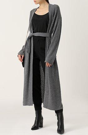 Женский кашемировый кардиган LE KASHA серого цвета, арт. AUSTIN0 | Фото 2