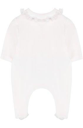 Хлопковая пижама с оборками и бантом | Фото №2