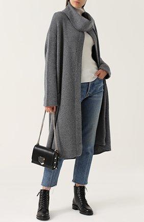 Кашемировое пальто свободного кроя Le Kasha серого цвета   Фото №1