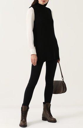 Кожаные ботинки с плетением intrecciato | Фото №2
