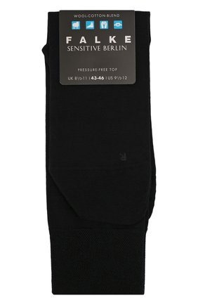 Мужские носки из смеси шерсти и хлопка sensitive berlin FALKE темно-синего цвета, арт. 14416 | Фото 1
