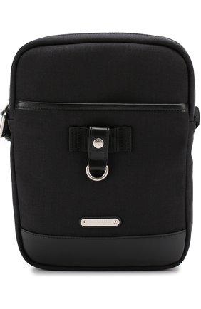 Текстильная сумка-планшет с кожаной отделкой | Фото №1