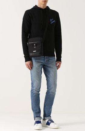 Текстильная сумка-планшет с кожаной отделкой | Фото №2