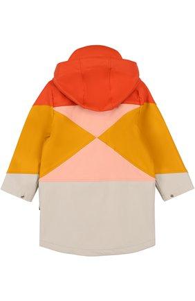Детский плащ-дождевик на молнии с контрастным принтом GOSOAKY разноцветного цвета, арт. 172.101.229 | Фото 2