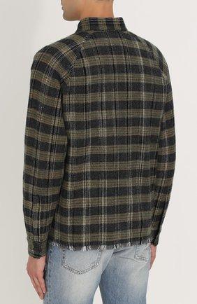 Кашемировая рубашка в клетку с необработанным краем Missoni разноцветная | Фото №4