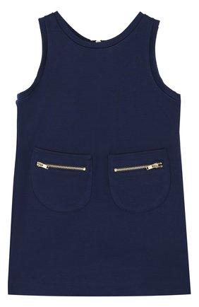 Трикотажное платье с накладными карманами | Фото №1