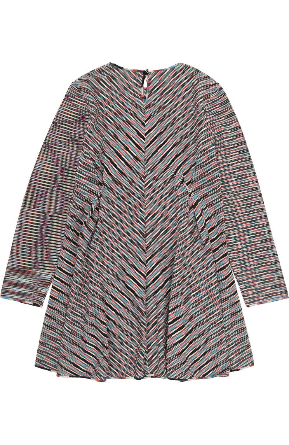 Вязаное мини-платье прямого кроя с принтом   Фото №2