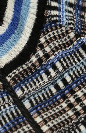 Кардиган фактурной вязки на молнии | Фото №3