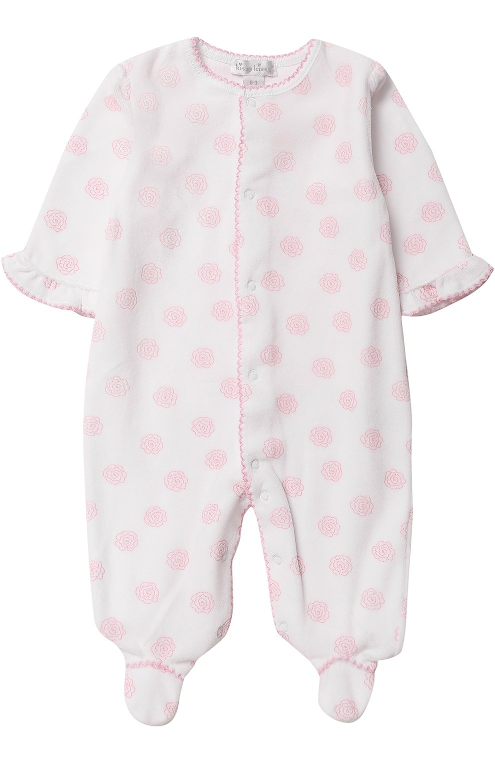 Детский хлопковая пижама с принтом KISSY KISSY белого цвета, арт. F17433V-04P   Фото 1