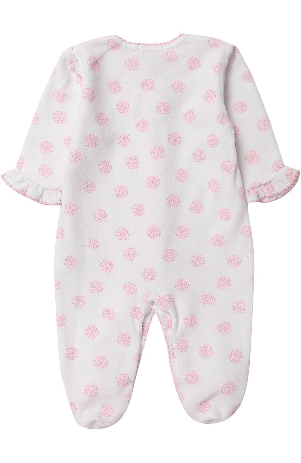 Детский хлопковая пижама с принтом KISSY KISSY белого цвета, арт. F17433V-04P   Фото 2