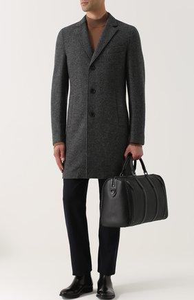 Кожаная дорожная сумка с плечевым ремнем | Фото №2