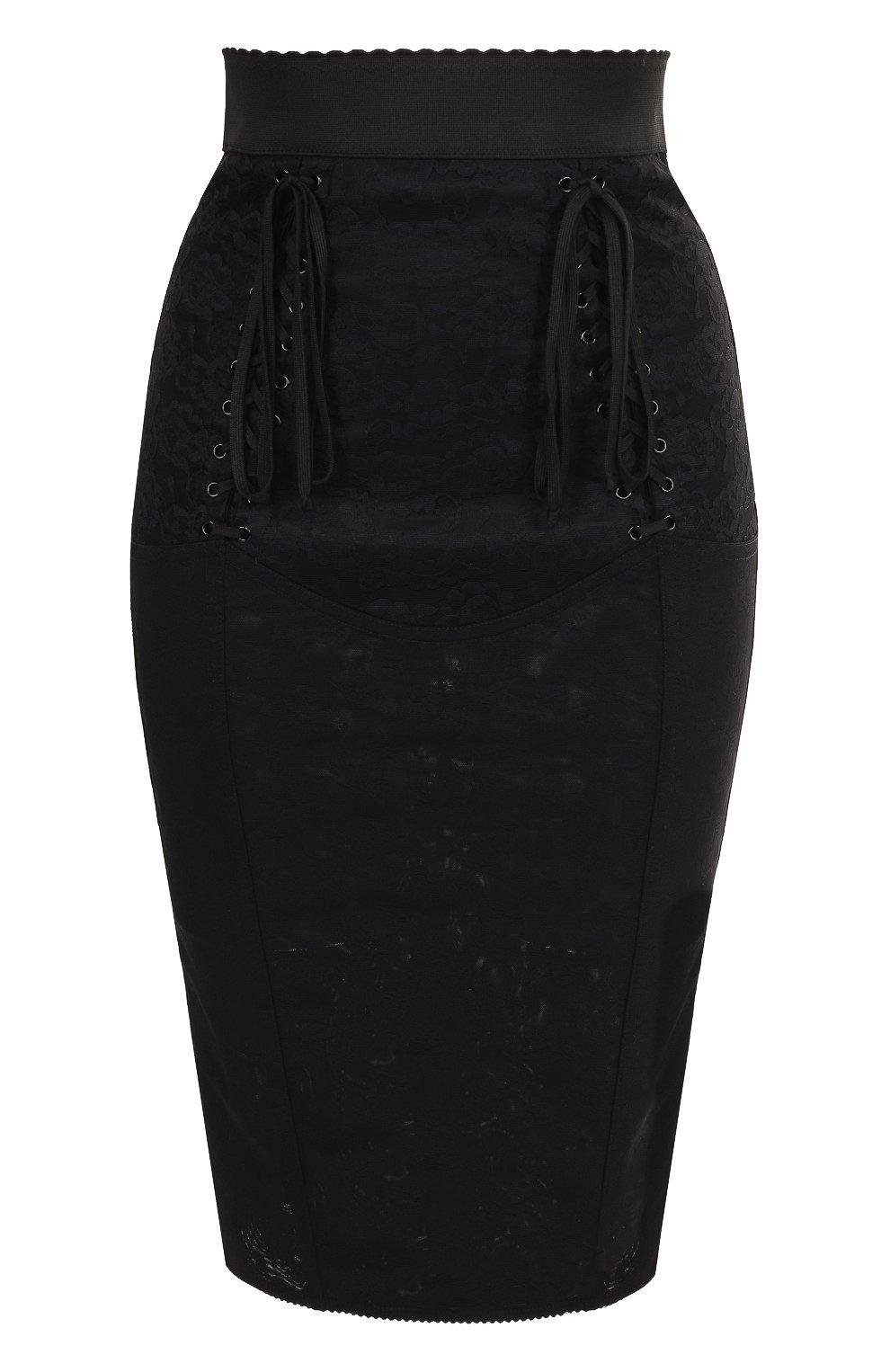 Кружевная юбка-карандаш со шнуровкой | Фото №1