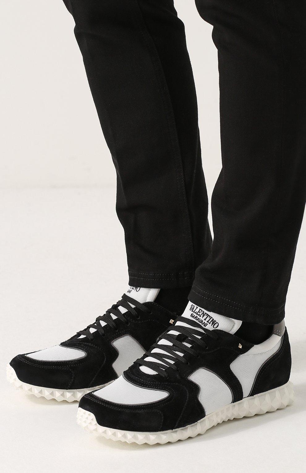 3a002ea197f4 Комбинированные кроссовки Valentino Garavani Soul AM на шнуровке   Фото №6