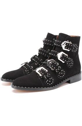 Замшевые ботинки Elegant Studs с заклепками | Фото №1