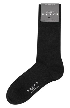Мужские носки airport из шерсти и хлопка FALKE темно-серого цвета, арт. 14435 | Фото 1