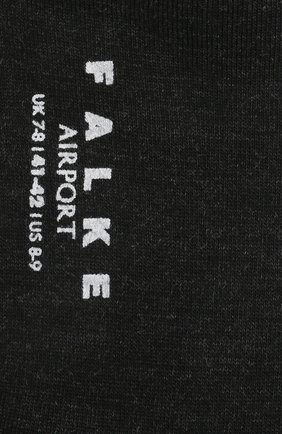 Мужские носки airport из шерсти и хлопка FALKE темно-серого цвета, арт. 14435 | Фото 2