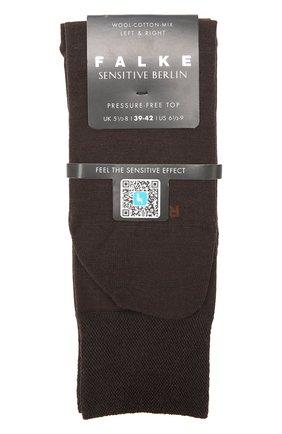 Мужские носки из смеси шерсти и хлопка sensitive berlin FALKE темно-коричневого цвета, арт. 14416 | Фото 1